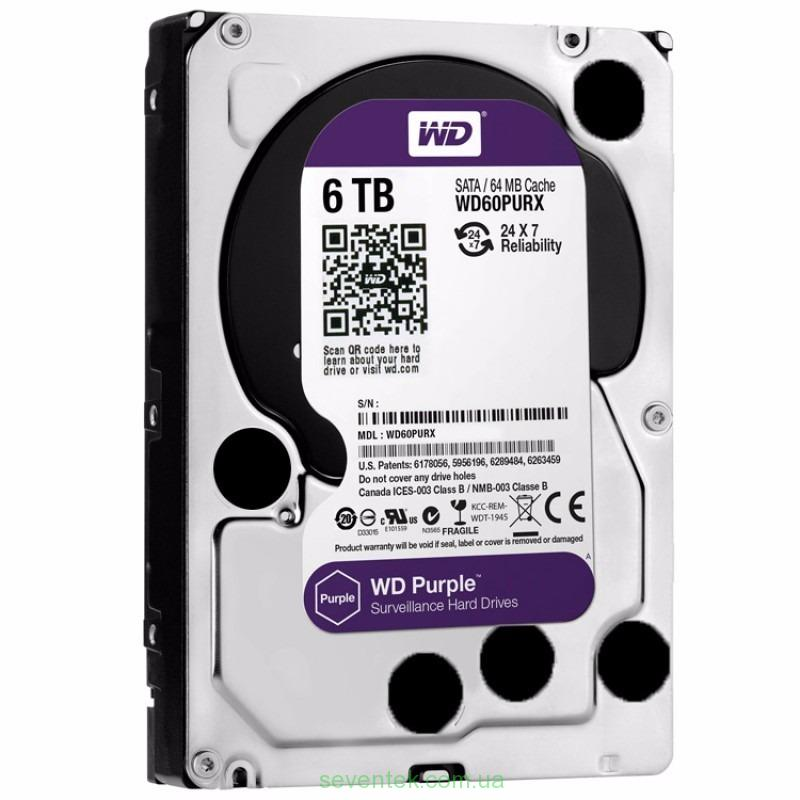 HDD WD 6000GB WD60PURX